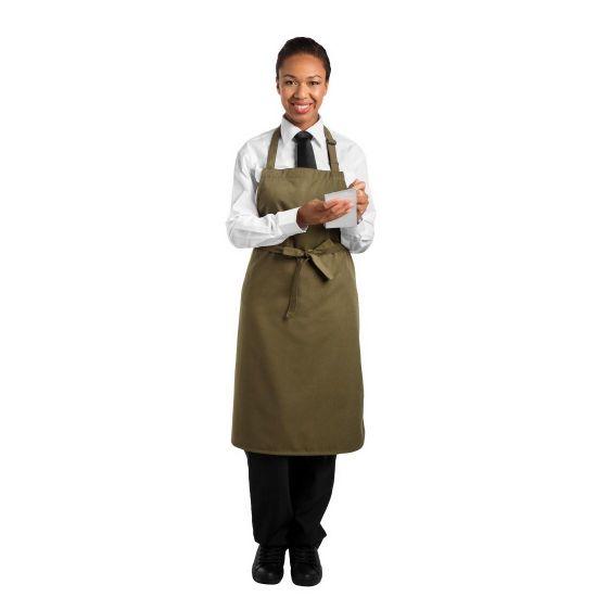 Le Chef Bib Apron Olive