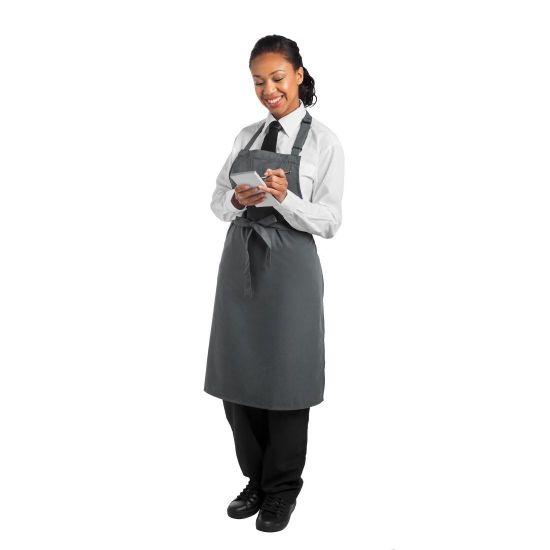 Le Chef Bib Apron Storm Grey