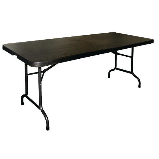 Bolero Centre Folding Utility Table 6ft Black