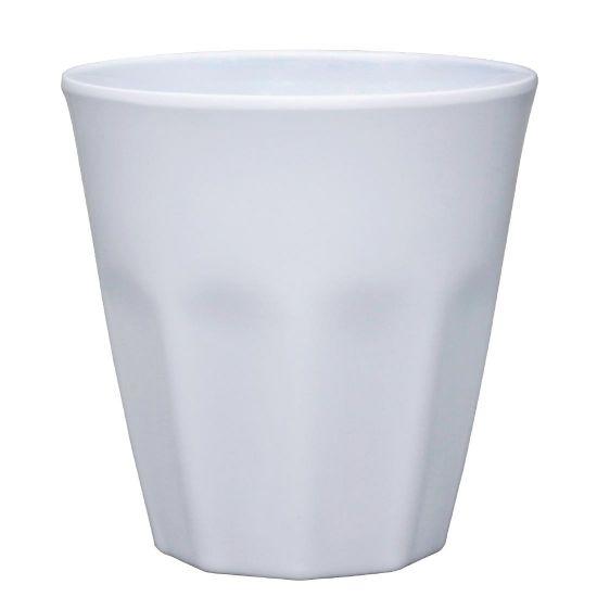 Kristallon Melamine Plastic Tumbler White 290ml (Pack of 6)