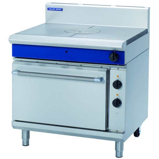 Blue Seal 900mm Gas Target Top Electric Static Oven Range GE570
